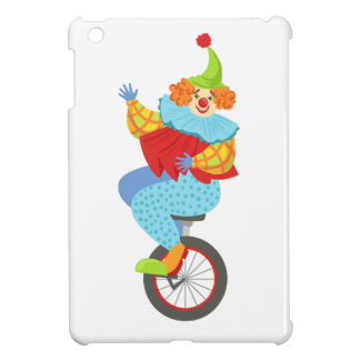 Colorful Friendly Clown Balancing On Unicycle iPad Mini Covers