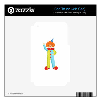 Colorful Friendly Clown In Party Hat Classic Outfi iPod Touch 4G Skins