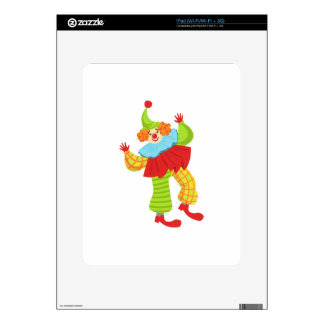 Colorful Friendly Clown In Ruffle To Classic Outfi Decal For iPad