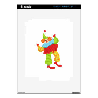 Colorful Friendly Clown In Ruffle To Classic Outfi Decal For iPad 3