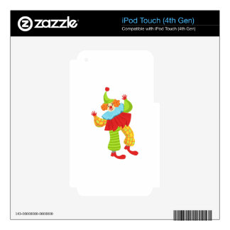 Colorful Friendly Clown In Ruffle To Classic Outfi iPod Touch 4G Decals