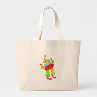 Colorful Friendly Clown In Ruffle To Classic Outfi Large Tote Bag