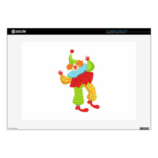"""Colorful Friendly Clown In Ruffle To Classic Outfi Skin For 15"""" Laptop"""