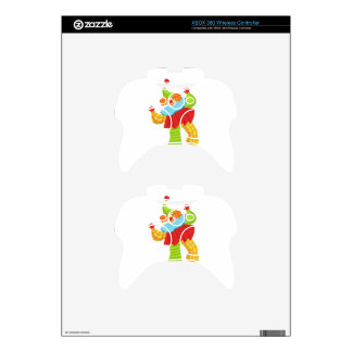 Colorful Friendly Clown In Ruffle To Classic Outfi Xbox 360 Controller Skin
