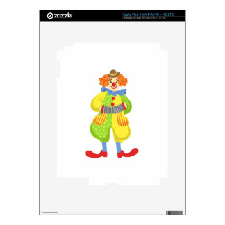 Colorful Friendly Clown Playing Accordion In Class Decal For iPad 3