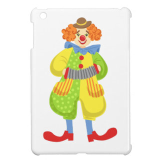 Colorful Friendly Clown Playing Accordion In Class iPad Mini Cover