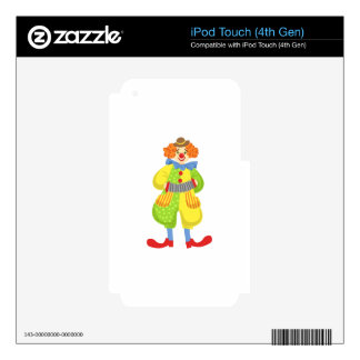 Colorful Friendly Clown Playing Accordion In Class iPod Touch 4G Decal