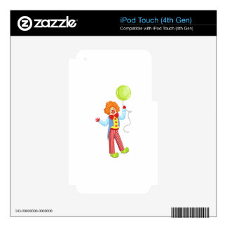 Colorful Friendly Clown With Balloon In Classic Ou Skin For iPod Touch 4G