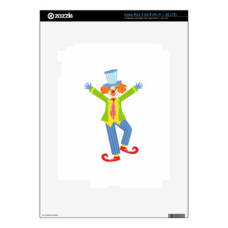 Colorful Friendly Clown With Curled Shoes In Class iPad 3 Decals