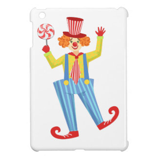 Colorful Friendly Clown With Lollypop In Classic O Cover For The iPad Mini