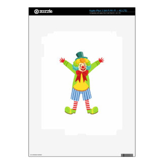 Colorful Friendly Clown With Multicolor iPad 3 Skins