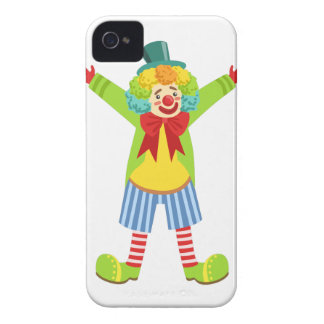 Colorful Friendly Clown With Multicolor iPhone 4 Case-Mate Case