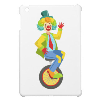 Colorful Friendly Clown With Rainbow Wig In Classi iPad Mini Cases