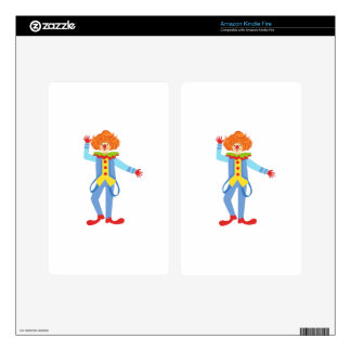 Colorful Friendly Clown With Suspenders In Classic Kindle Fire Skin