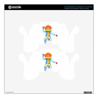 Colorful Friendly Clown With Suspenders In Classic PS3 Controller Skin