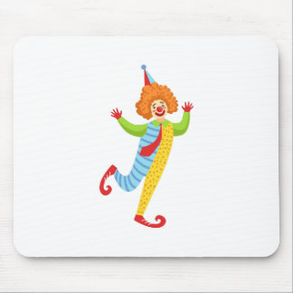 Colorful Friendly Clown With Tie In Classic Outfit Mouse Pad