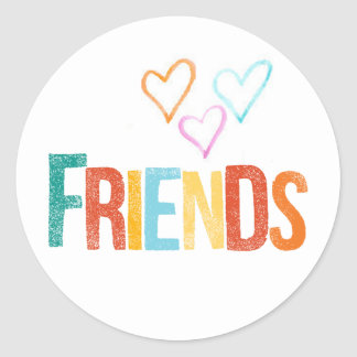 colorful friendship stickers
