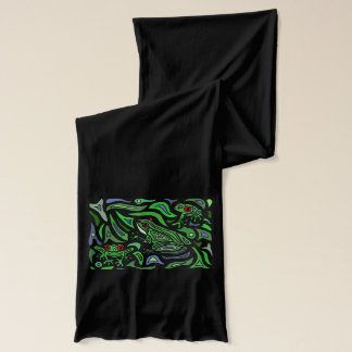 Colorful Frog Abstract Art Design Scarf