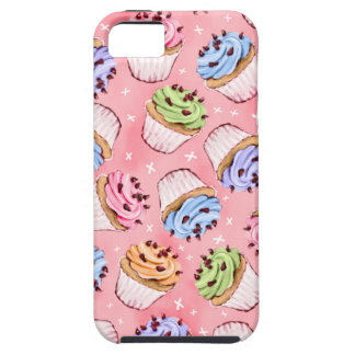Colorful Frosted Cupcakes Pattern iPhone SE/5/5s Case