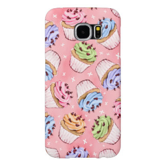 Colorful Frosted Cupcakes Pattern Samsung Galaxy S6 Case