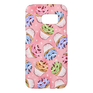 Colorful Frosted Cupcakes Pattern Samsung Galaxy S7 Case