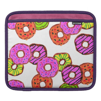 colorful frosted donuts doughnut with sprinkles iPad sleeve
