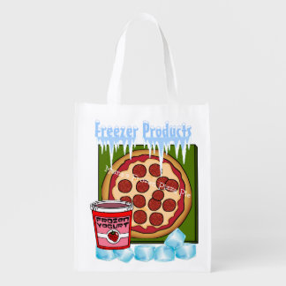 Colorful Frozen Products Grocery Bag