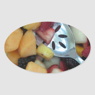 Colorful Fruit Assortment Oval Sticker