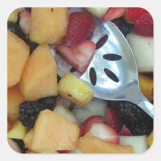 Colorful Fruit Assortment Square Sticker