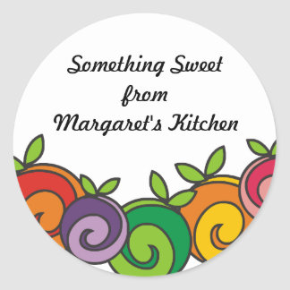 Colorful fruit baking food from my kitchen sticker