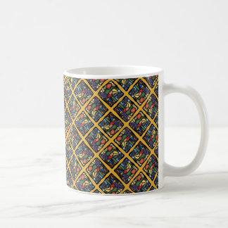 Colorful Fruit Bowl Pattern Coffee Mug