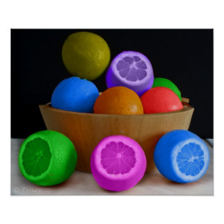 Colorful Fruit Bowl Print