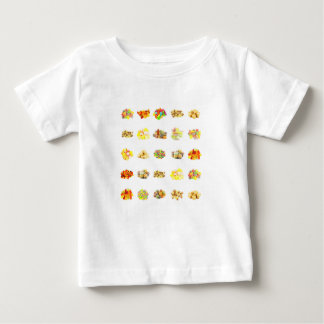 Colorful Fruit Flavored Candy Isolated Background Baby T-Shirt