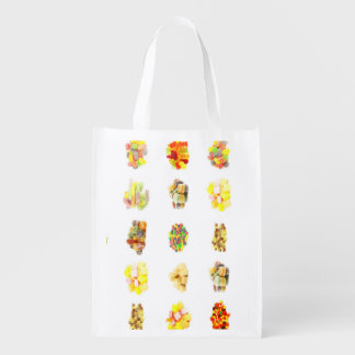 Colorful Fruit Flavored Candy Isolated Background Grocery Bag