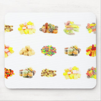 Colorful Fruit Flavored Candy Isolated Background Mouse Pad
