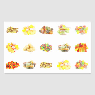 Colorful Fruit Flavored Candy Isolated Background Rectangular Sticker