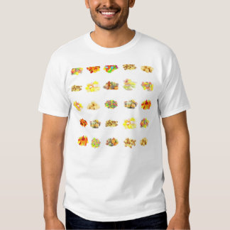 Colorful Fruit Flavored Candy Isolated Background T-Shirt