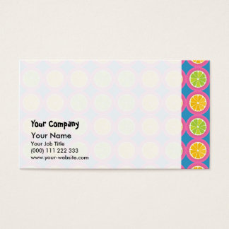 Colorful fruit pattern business card