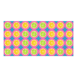 Colorful fruit pattern card