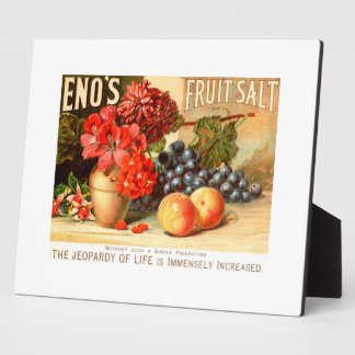 Colorful Fruit Salt Ad Plaque