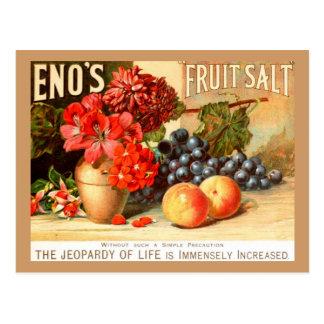 Colorful Fruit Salt Ad Postcard
