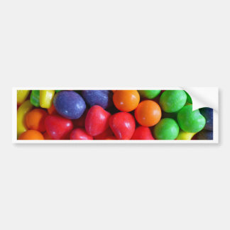 Colorful Fruit Shaped Candy Bumper Sticker