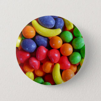 Colorful Fruit Shaped Candy Pinback Button