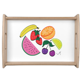 Colorful Fruit Summer Collection, Cool Serving Tray