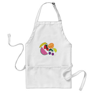Colorful Fruit Summer, Cool, Fun Adult Apron