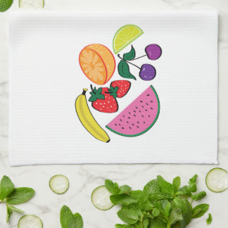 Colorful Fruit Summer, Cool, Fun Kitchen Towel