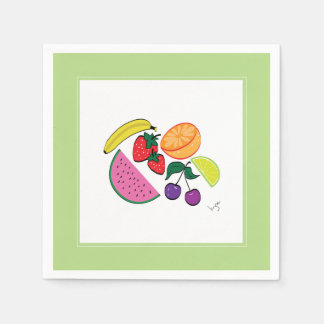 Colorful Fruit Summer, Cool, Fun Napkin