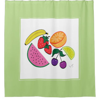 Colorful Fruit Summer, Fun, Cool Shower Curtain