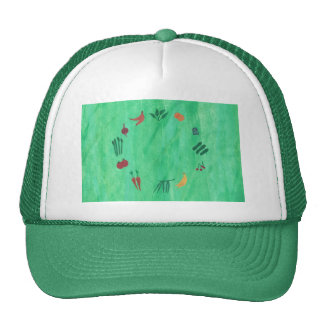 Colorful Fruits and Vegetables Hats