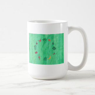 Colorful Fruits and Vegetables Mugs